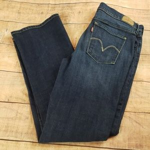 Levis Boot Cut Dark Wash Blue Jeans Cool Pockets
